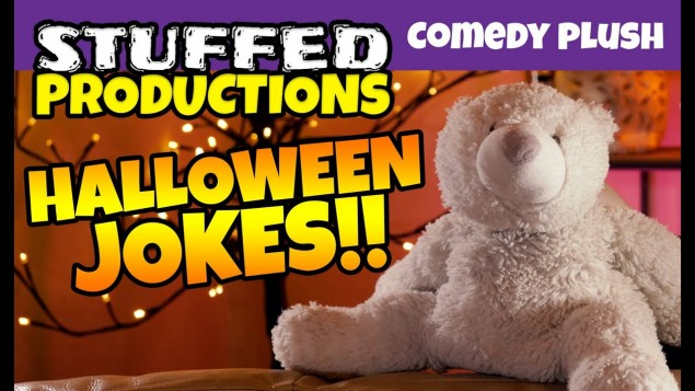 Plush Bear Tells Funny Halloween Jokes! Growler's Halloween Jokes 2019